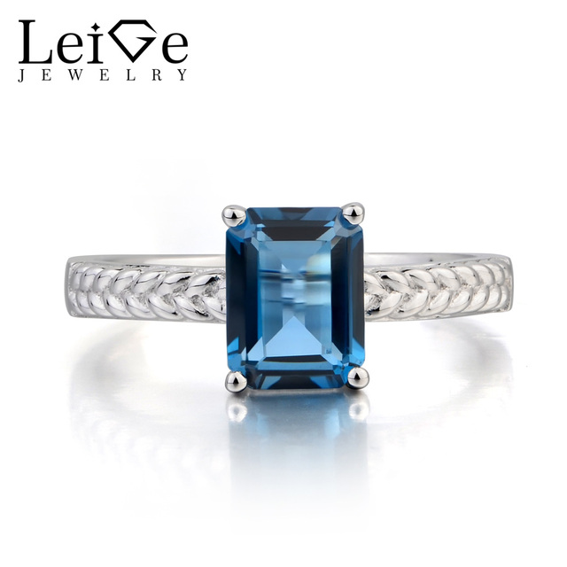 Leige Jewelry Topaz Wedding Ring London Blue Topaz Ring November