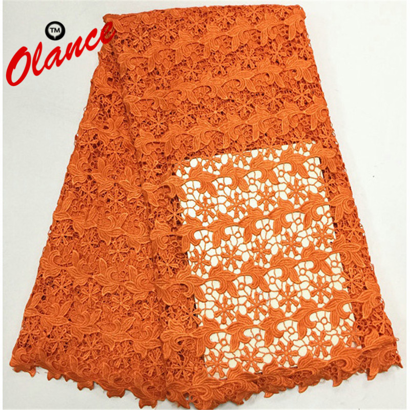 Popular design hot sell free shipping Cupion lace PW132 , Factory price Nigerian lace 5 yards Cord lace in orangePopular design hot sell free shipping Cupion lace PW132 , Factory price Nigerian lace 5 yards Cord lace in orange