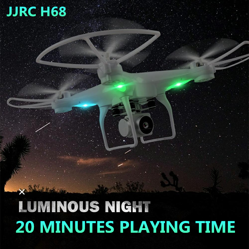 JJRC H68 RC Drone with Camera HD WiFi FPV Altitude Hold Headless Mode Dron 20 Minutes Flying Time Quadcopter Selfie Drone jjrc h50ch 2 4 axis rc drone quadcopter uav altitude hold headless mode with 200w fpv camera spare parts f20672