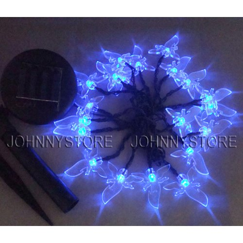 Solar Ed String Lights With 20 Led Blue Winged Angel Outdoor Fairy Light 16 4ft