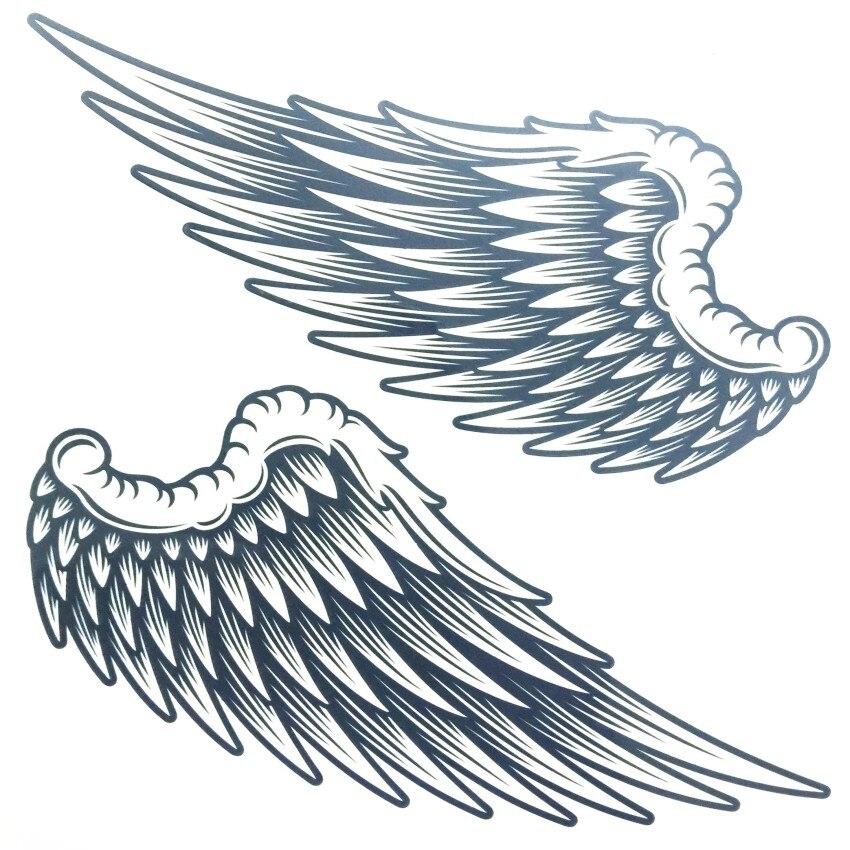 Tattoo Stickers Big Cute font b Fallen b font font b Angels b fontjpg