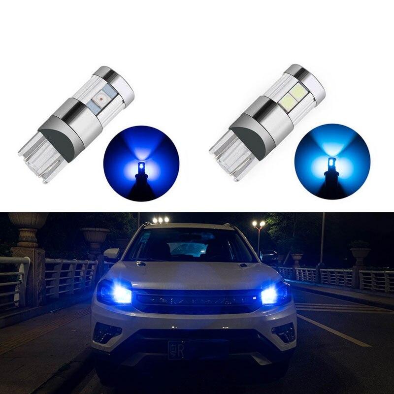 2x t10 led Bulb w5w LED Car DRL 5/9 SMD For VW Golf 5 Polo Jetta Bora Passat 3C CC B7 Tiguan Touareg Scirocco Eos BMW AUDI Benz