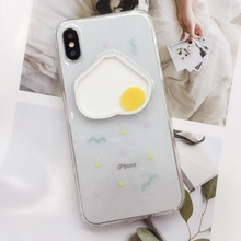 Cute Flow Egg Patterned Phone Case For iphone X XS Max XR 6 6s 7 8 Plus Soft Silicon Cover Crystal Glitter Bling Girls