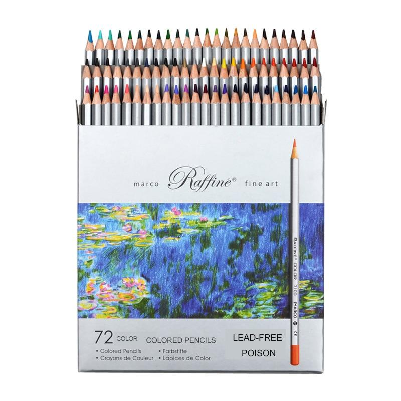 Marco 24/36/48/72pcs Colored Pencil Painting Set lapis de cor Non-toxic Lead-free Oily Color Pencil Writing Pen School Supplies