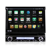 "7 ""1 Din Android Universal En el tablero de Coches Reproductor de DVD GPS de Navegación Panel Frontal desmontable Auto Radio Audio Estéreo BT 3G FM TV"