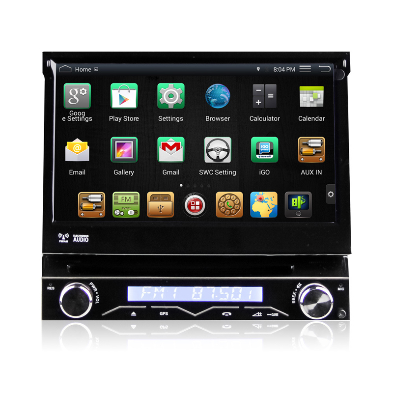 7 &#171;1 Din Android-dvd-плеер Автомобиля Gps-навигация Универсальная Встроенная магнитола съемная Передняя Панель Авто Радио Аудио Стерео BT 3 Г <font><b>FM</b></font> ТВ