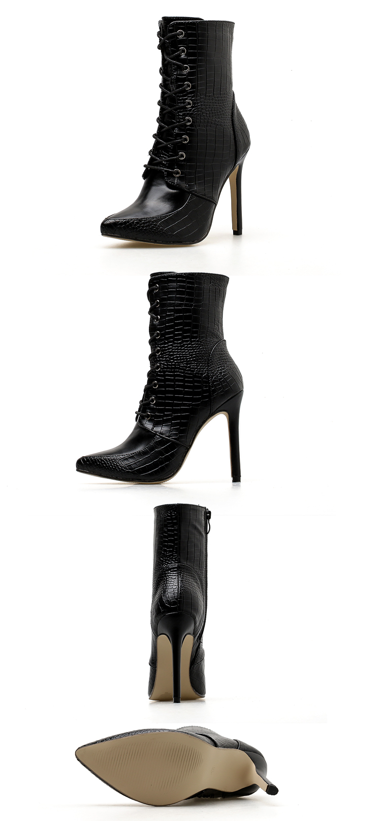 48d69f3f4d060b Ge stagione bind stivali femminili multa nero scarpe con alta ...