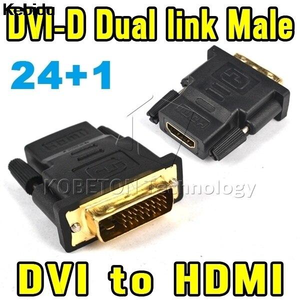 Kebidu Ta-1080 P DVI 24 + 1 Pria Untuk HDMI Perempuan Adapter Converter V1.4 DVI-D Dual Link Untuk Xbox360/Satu Untuk PS4 PS3 HDTV