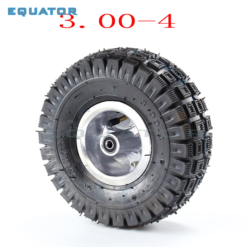 3.00-4 300-4  Electric Scooter Front Wheel Tyre Alloy Rim Hub And Inner Tube Wheels Gas Scooter Bike Motorcycle