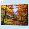 Autumn Tree View Frameless Digital Painting By Number Acrylic Paint Abstract Modern Wall Art Canvas Painting