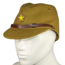 Retro del ejército japonés. gorra para hombres WW2 japonés oficial del  ejército de lana gorra sombrero ejército combate verde so. fb2d55a2f25