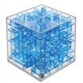 Alta Calidad Transparente 6 cm 4 Colores Laberinto Mágico Cubo Cubos Educativos Para La Primera Infancia de Inteligencia Magique Adultos Niños Juguete de Regalo