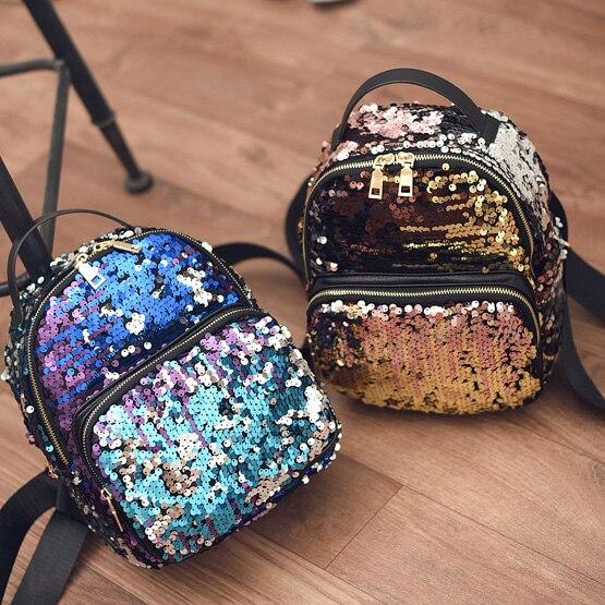 bd1e9359a707 2017 маленький рюкзак Bolsa Infantil Обувь для девочек Обувь для мальчиков  сумка Симпатичные backbag с пайетками детей Bling школьный рюкзак мини  Zaino ...