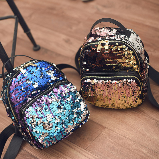 2017 Small Backpack bolsa infantil Girls Boys Double Shoulder Bag Cute Backbag With Sequin bolsa infantil
