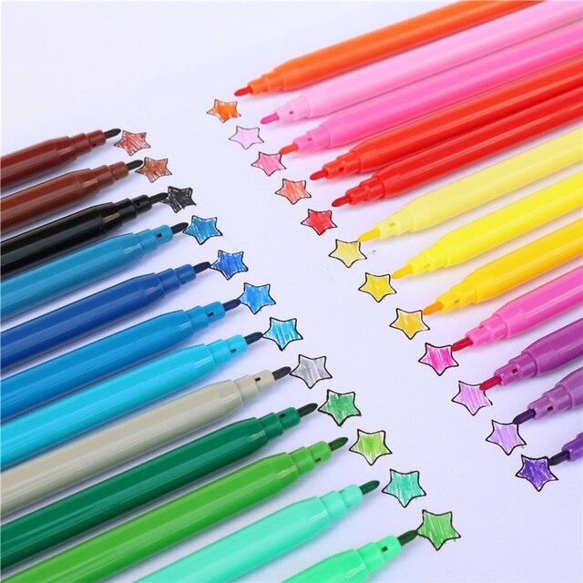 Wysokiej jakości długopisy dla uczniów marker do malowania pisaki akwarelowe zestaw pędzelków do rysowania markerów kolorowych prezent dla studentów