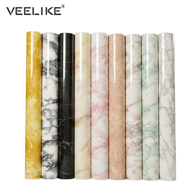 Waterproof PVC Vinyl Shelf Liner Marble Contact Paper for Kitchen Countertops Bathroom Self adhesive Wallpaper Home Decoration
