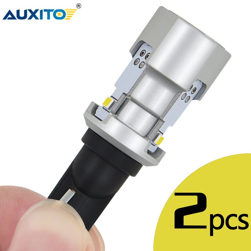 AUXITO 2Pcs T15 W16W LED Bulbs 912 921 CANBUS Error Free Car Back-Up Reverse Lights Super Bright 2020SMD 3Chips 6500K White 12V
