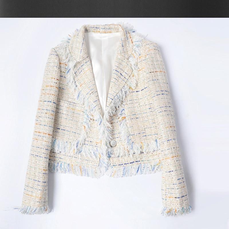 Tweed mantel damen weiss