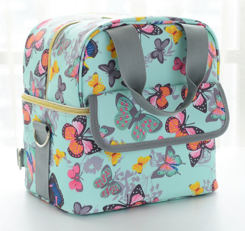 Mommy bag Insulation refrigeration milk bag New grid multi function large capacity portable mommy bag