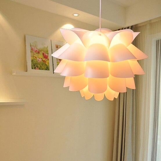 White Pendant Lights Pp Lotus Lamp Cover For Living Room Restaurant Bedroom Decoration Ofhead
