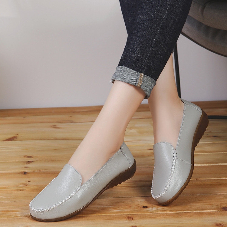 XY 518-2019 Genuine Leather Women's Shoes Soft Woman Loafers-16
