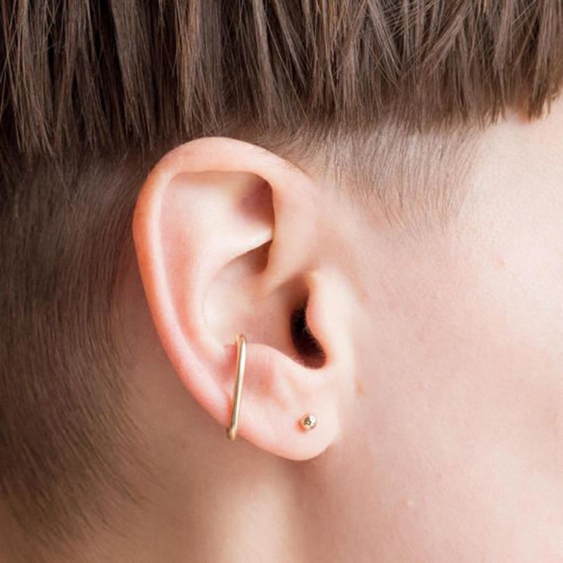 Gefälschte Clip Ohrringe Schmuck Charme Handmade Kein Piercing Ohr Manschette 14 Gold Gefüllt Anpassbare Ohrringe für Frauen Brincos Ohrringe