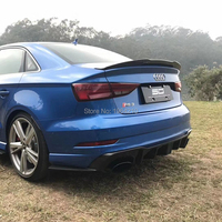 For Audi A3 4doors 2014 2015 2016 2017 2018 2019 Carbon Fiber Rear Roof Spoiler Tail Boot Lip Trunk Wing Car Accessories