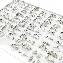 20 шт./лот, маленькие кольца из нержавеющей стали для женщин, музыкальная бабочка, цветок, шарм, крест, любовные буквы, кольцо, опт, много оптом