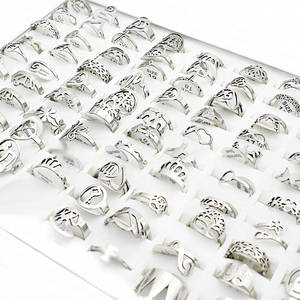 Mix Rings Flower-Charm Stainless-Steel Butterfly Small Lots Bulk Music Cross-Love Wholesale