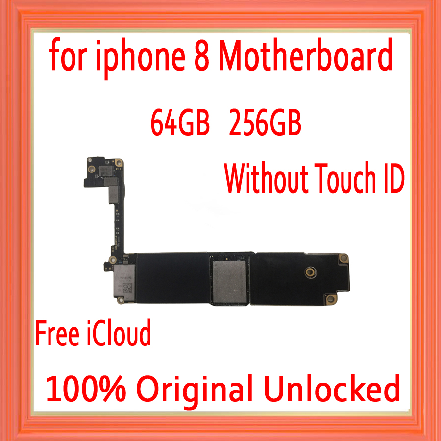 64GB 256GB Original unlocked for iphone 8 Motherboard without Touch ID,No iCloud for iphone 8 Mainboard with Full Chips