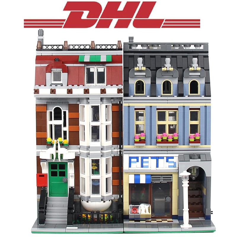 2018 New 2108Pcs City Figures Street Pet Shop Model Building Kits Blocks Bricks Toys For Children Gift Set Compatible With 10218