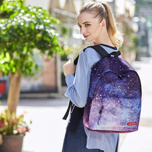 Big Capacity Colful Multicolor Women Canvas Backpack Stylish Galaxy Star Universe Space Backpack Girls Gift School Backbag