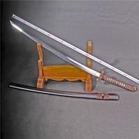 handmade knife t10 clay technology swords blade japanese tanto samurai sword katana decoration real katana battle ready folding