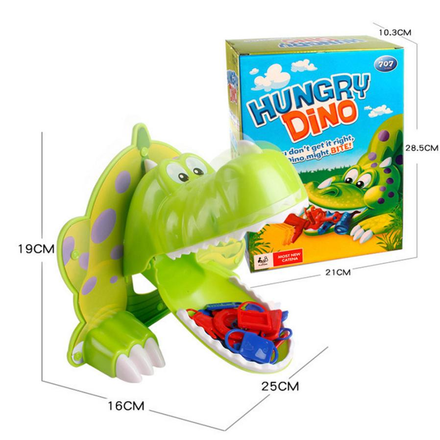 Hot Hungry Hunger Dino Jokes Mouth Dentist Bite Finger Game Joke Dinosaur Toy 100% brand new and high quality Education Toy