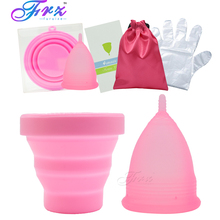 Copa menstrual sterilizing cup Womens Feminine Hygiene Recyclable flexible Collapsible Cup to clean Menstrual sterilizer