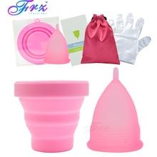 Copa menstrual sterilizing cup Women's Feminine Hygiene Recyclable flexible Collapsible Cup to clean Menstrual Cup sterilizer недорого