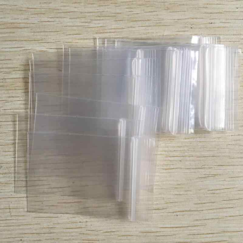 100Pcs Transparent Zip lock Poly Plastic Bags Zipper Sealing Ziplock Zip Zipped Lock Resealable Clear Bag Small Pouches Packing