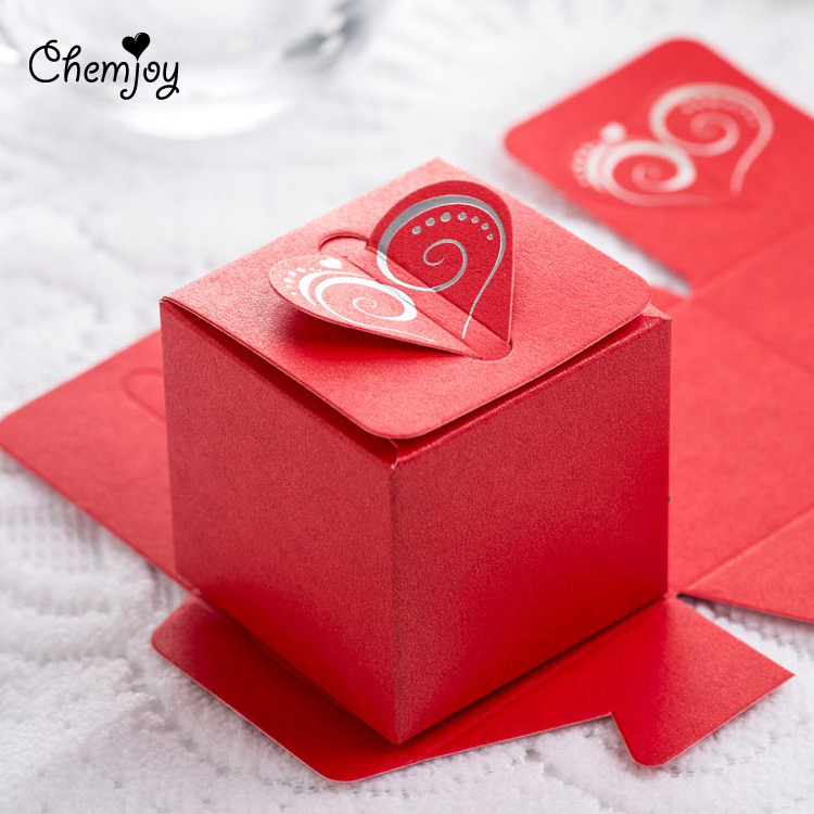 Heart Laser Cut Wedding Favor Boxes Candy Box Wedding Gift for Guests ...