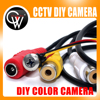 2 0MP DIY Wired Camera Home Security System Color Monitor Micro Monochrome CMOS Camera