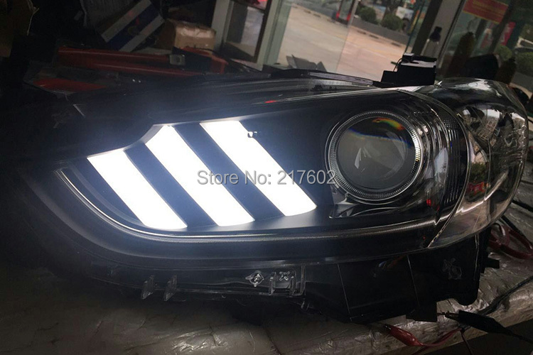 for Mazda 6 ATENZA Headlights with LED Turn light 2014 year V2 version with Chrome bar LD