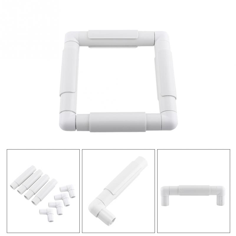 Embroidery Frame DIY Cross Stitch Hoop Stand Lap Tool Square ...