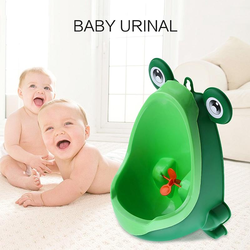 4 Color orinal bebé forma de rana Vertical montado en la pared pis conveniente Animal lindo niño baño urinario permanente Baño niño regalo de Navidad