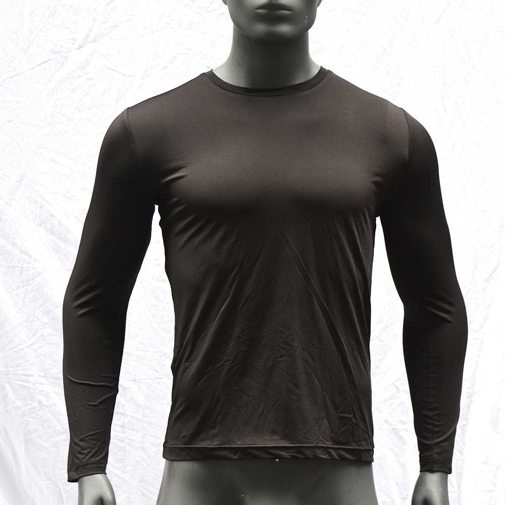 Camiseta de manga larga de Surf para hombre UPF 50 Rashguard Dry-Fit Surfing Rash Guard Top transpirable camiseta de buceo negro ropa de playa