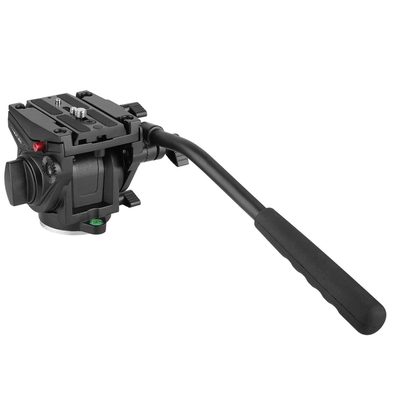 KINGJOY Heavy Duty Caméra Vidéo Fluide Drag Chef, fluide Glisser Pan Tilt Head pour DSLR Caméra Vidéo Caméscope Tournage Tournage