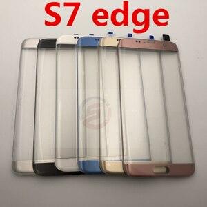 Image 5 - Schermo anteriore Obiettivo di Vetro per Samsung Galaxy S7 Bordo G935 G935F SM G935F G935FD Posteriore Della Copertura di Batteria del Portello Posteriore Dellalloggiamento con adesivo