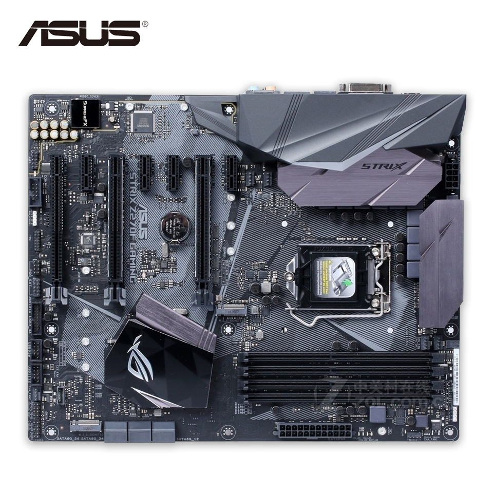 Original New Asus ROG STRIX Z270F GAMING Desktop Motherboard Z270 Socket LGA 1151 i7 i5 i3 DDR4 64G SATA3 USB3.1 ATX