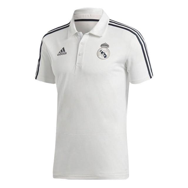 01660b06aa2e2 ADIDAS POLO ENTRENAMIENTO REAL MADRID HOMBRE - camiseta futbol poliester  blanco - camiseta real madrid