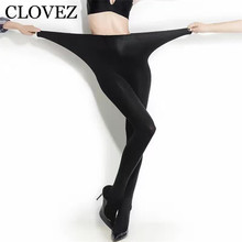 CLOVEZ Hot Super Elastic Magical Stockings Women Sexy Seamless Black Thin Pantyhose Ladies Tights Nude Sheer Mesh Collant Femme