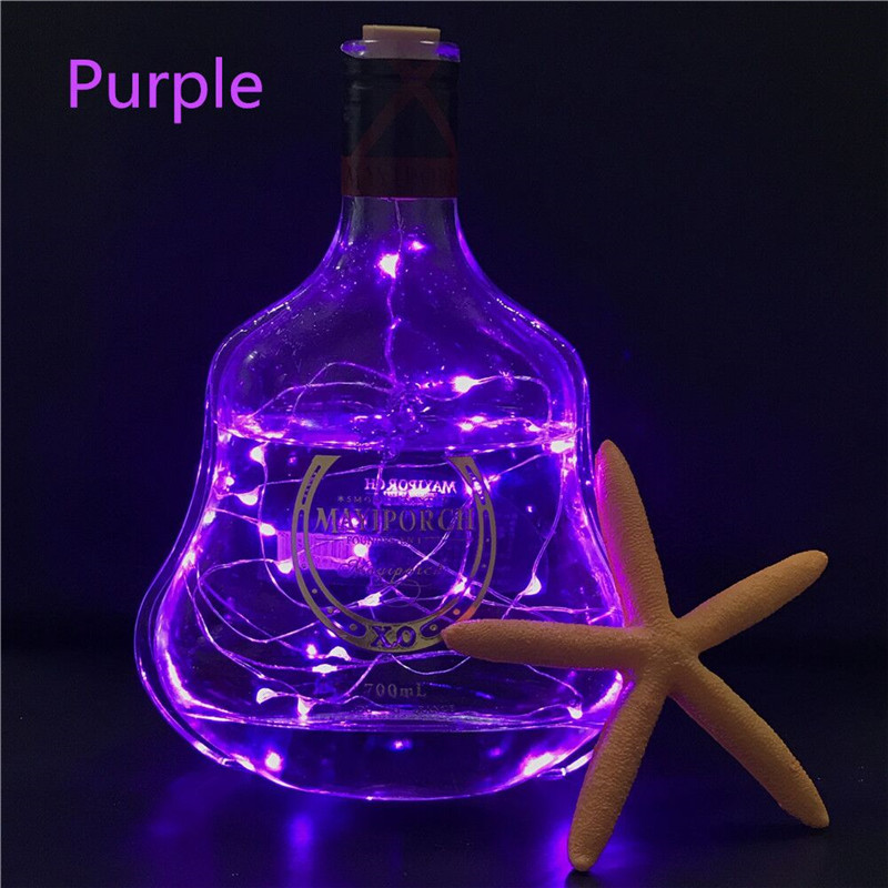 Wine Bottle Cork Shaped String Light 2m 20 LED Night Fairy Light Lamp Xmas For Christmas, Party,Wedding Holiday Decoration