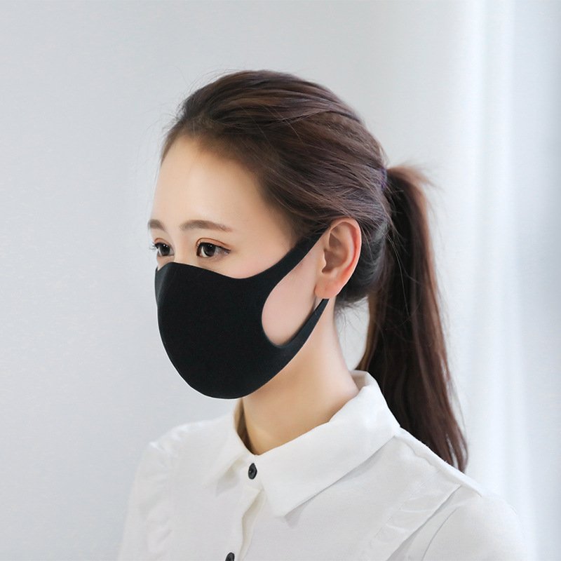 5pcs Black Health Cycling Anti-Dust Mouth Face Mask Respirator Unisex Fashion Kpop Mouth-Muffle Face Masks Free Shipping